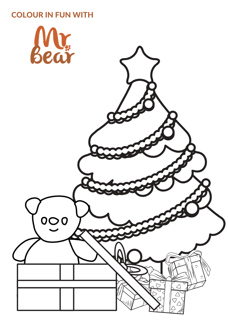 Mr Bear Colouring Sheet